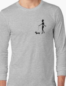 Flaunting The Pooch (peach) Long Sleeve T-Shirt