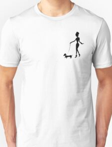 Flaunting The Pooch (peach) Unisex T-Shirt