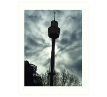 Centrepoint in silhouette Art Print