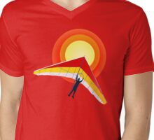 Hang Glider Mens V-Neck T-Shirt