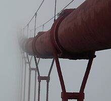 Cable Disappearing into Fog by BTaberham
