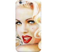 Blue Eyes Blond 3 iPhone Case/Skin