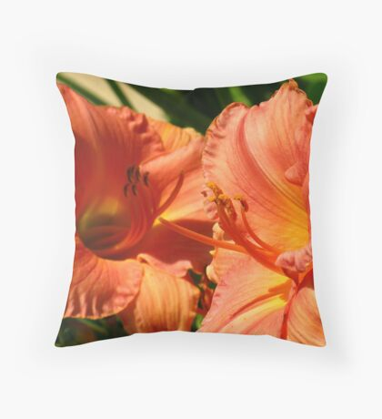 Day Lily Patch Throw Pillow