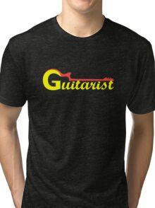 Guitarist Red & Yellow Tri-blend T-Shirt