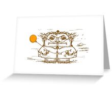 Windblown illustration for dreamers Greeting Card