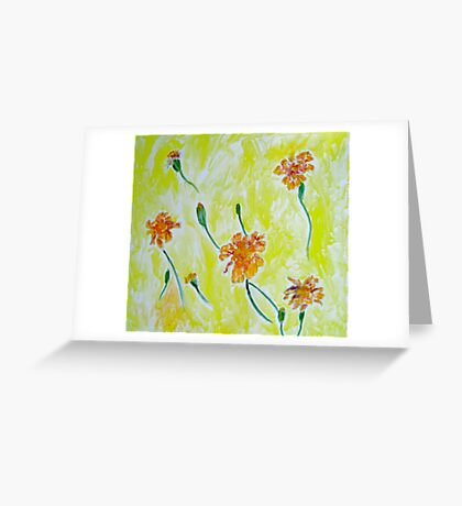 Floating Marigolds Greeting Card