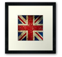 Grunge Union Jack - Scratched Metal Effect Framed Print