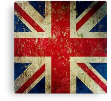 Grunge Union Jack - Scratched Metal Effect Canvas Print
