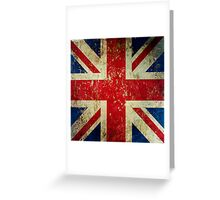 Grunge Union Jack - Scratched Metal Effect Greeting Card