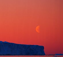 Frozen Moonrise, Antarctica by Andy Townsend