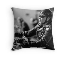 Biker Chick Throw Pillow