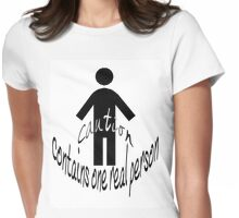 Person Caution Womens Fitted T-Shirt