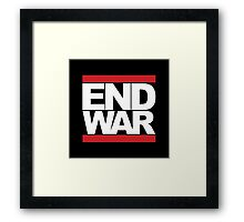 END WAR - RUN DMC Parody Logo Framed Print