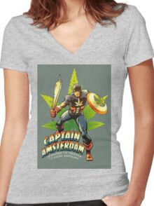 Captain Amsterdam Women's Fitted V-Neck T-Shirt