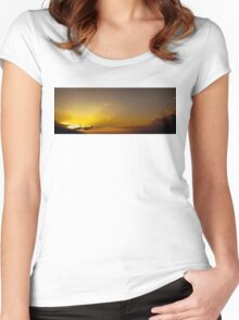 Sunset Across England Women's Fitted Scoop T-Shirt