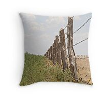 Rustic Fence Throw Pillow