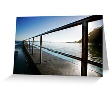 baths railings Greeting Card