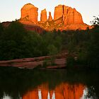 Cathedral Rock Reflection by eegibson