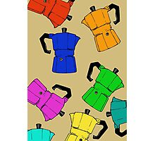 coffeepot colorful pattern Photographic Print