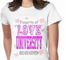 Love University Womens Fitted T-Shirt