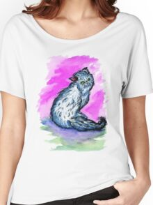 Persian Cat Watercolor Women's Relaxed Fit T-Shirt