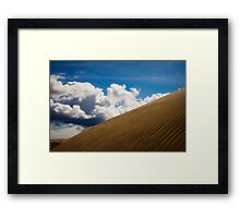Sand Dune and Clouds Framed Print