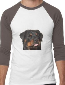 Cute Rottweiler With Tongue Out Men's Baseball ¾ T-Shirt