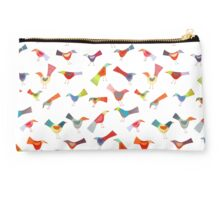 Birds doing bird things Studio Pouch