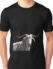 Portrait of a Horned Goat Grazing Vector Unisex T-Shirt