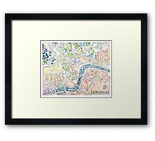 Map of London MADMAPS by Victori Vincent Framed Print