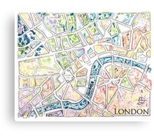 Map of London MADMAPS by Victori Vincent Canvas Print
