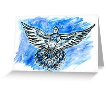 Dove in the Sky Greeting Card
