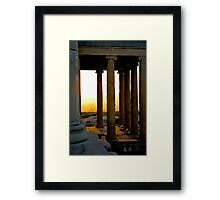 Sunset From The Back Porch Of The Erectheum Framed Print