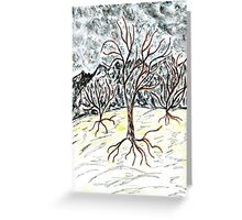 Dead Tree Sketch 2 Greeting Card