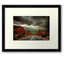 Roadway to Arches Framed Print