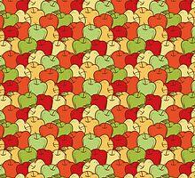Apple Seamless Pattern by deepfuze