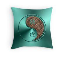 Aquarius & Dog Yang Earth Throw Pillow