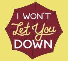 I Won't Let You Down Umbrella Kids Clothes