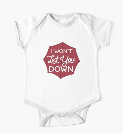 I Won't Let You Down Umbrella One Piece - Short Sleeve