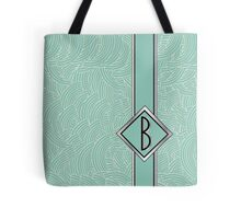 1920s Blue Deco Swing with Monogram letter B Tote Bag