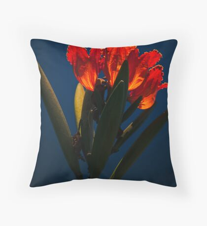 Fiery flower Throw Pillow