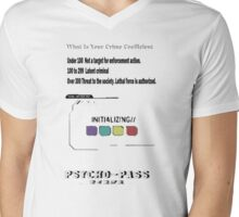 Psycho_Pass Crime Coefficient Initializing Mens V-Neck T-Shirt