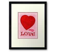 Victorian Heart with a Kisss Framed Print