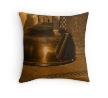 Boil the kettle, coffee time Throw Pillow