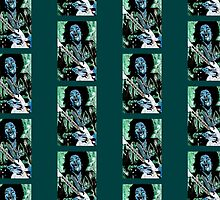 Jimi Hendrix 1 Design 2 by Kevin J Cooper