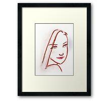 Lipstick Girl S Framed Print