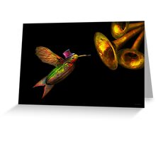 Steampunk - Bird - Apodiformes Centrifigalus Greeting Card