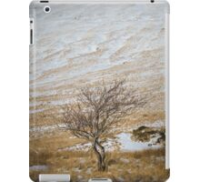 Solitary Tree against the Snowy Hillside iPad Case/Skin
