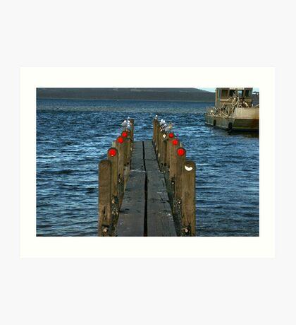 Pier Review? Art Print