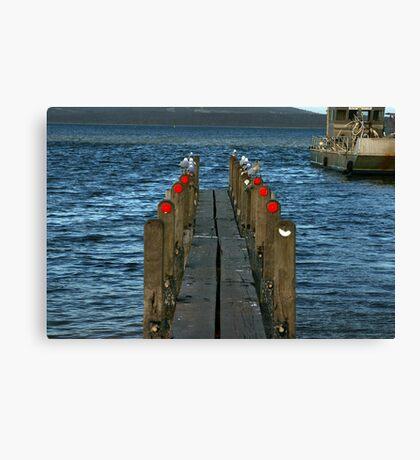 Pier Review? Canvas Print